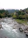 御岳付近の多摩川