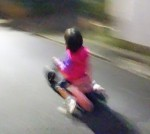 Yバイクで疾走